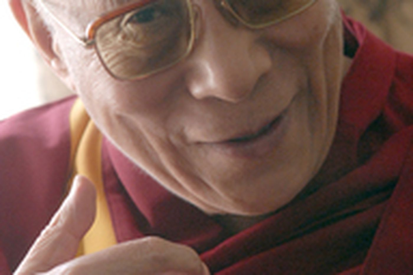 Dalai Lama describes himself as 'just one monk'