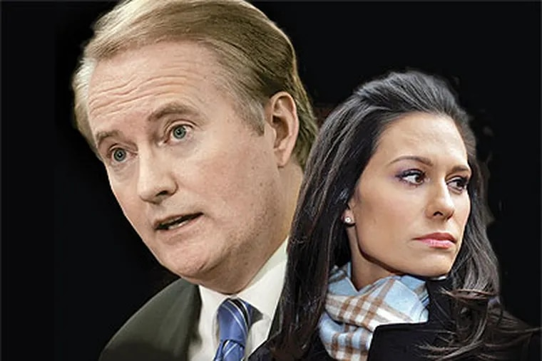 Alycia Lane's lawsuit against former co-anchor Larry Mendte and CBS Broadcasting is finally going to court. (Daily News photo illustration)