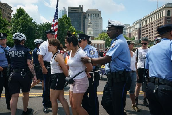 Protesters 'detained and cited' after trying to disrupt 4th of July parade in Philadelphia