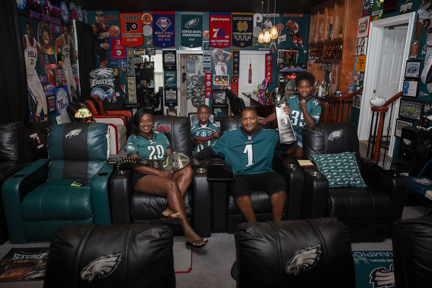 How these Eagles diehards made fan caves fit for champions