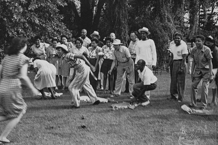 A family party in Fairmount Park is one of the slices of everyday life that photographer John W. Mosley captured.