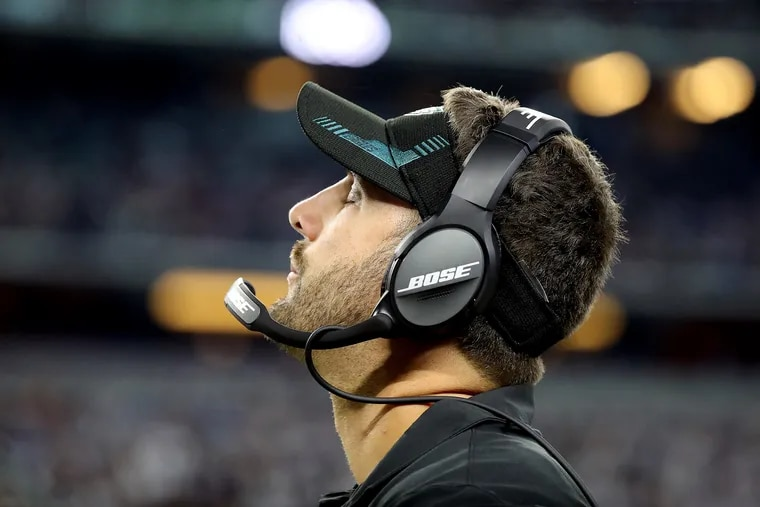 Eagles head coach Nick Sirianni reacts after his team was penalized during Monday night's game against the Cowboys.