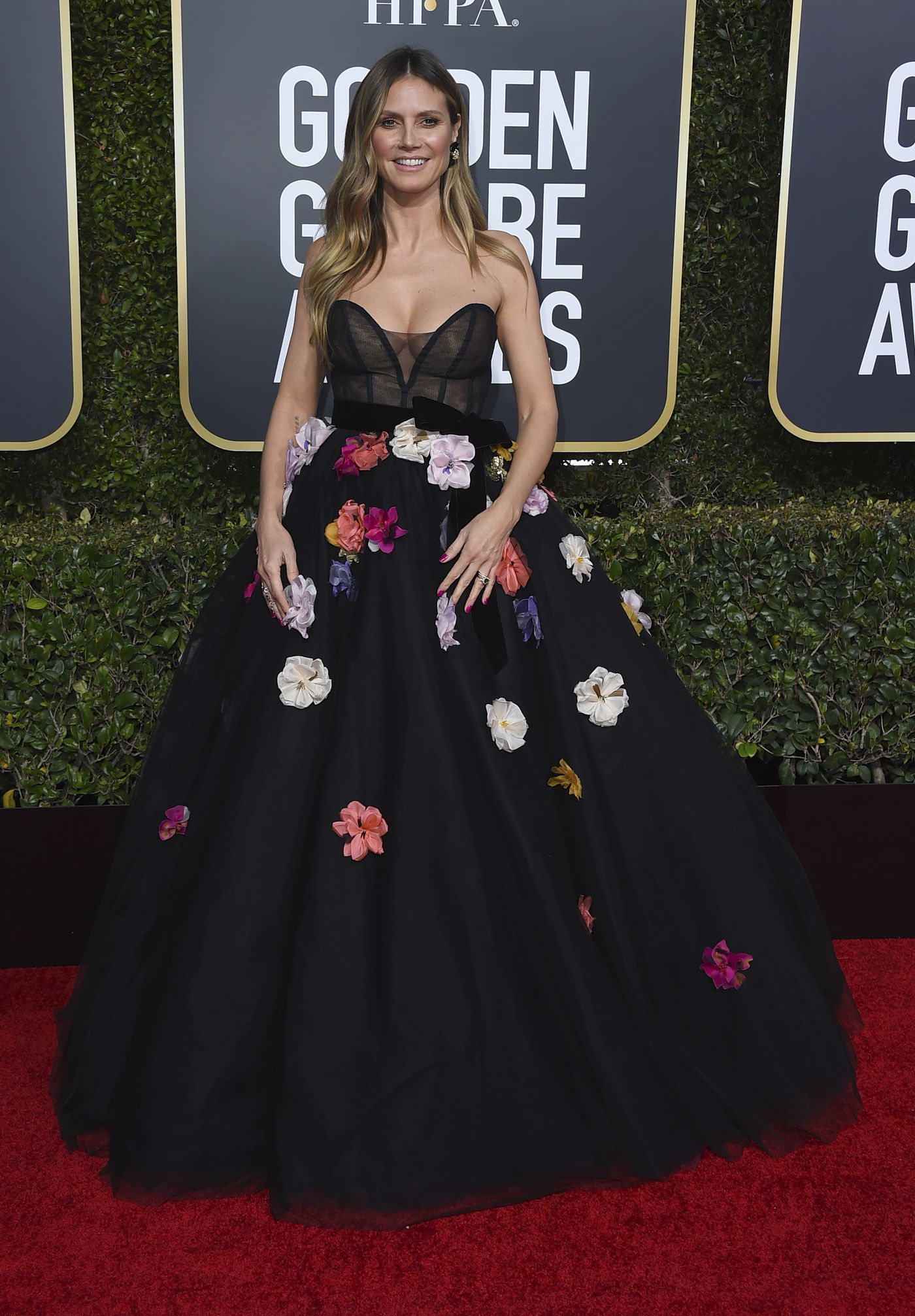 Heidi Klum arrives at the 76th annual Golden Globe Awards at the Beverly Hilton Hotel on