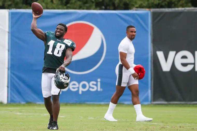 Eagles wide receiver Jalen Reagor had his moments Thursday.