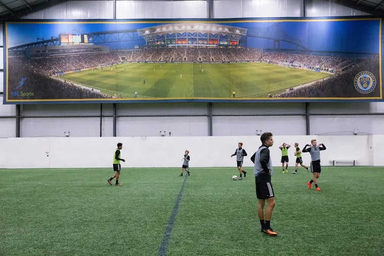 A practice session at the Philadelphia Union 's youth academy in Wayne.