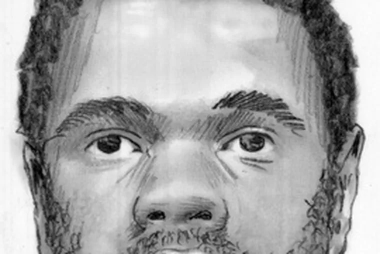 A police sketch of the assailant.