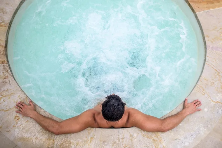 Relaxing, sure, but what if the water gets in his ears?