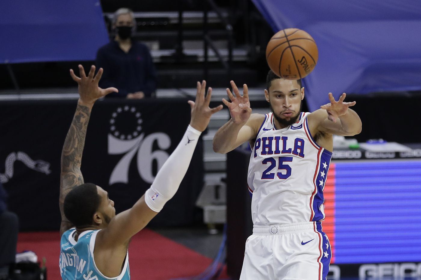Ben Simmons posts first triple-double of season as Sixers roll to 127-112 victory over Charlotte Hornets