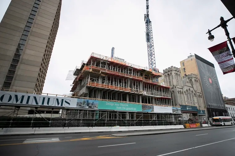 The Arthaus condo construction is closed per Gov. Tom Wolf's order due to the spread of the coronavirus. He said Monday he'll allow some construction to continue.