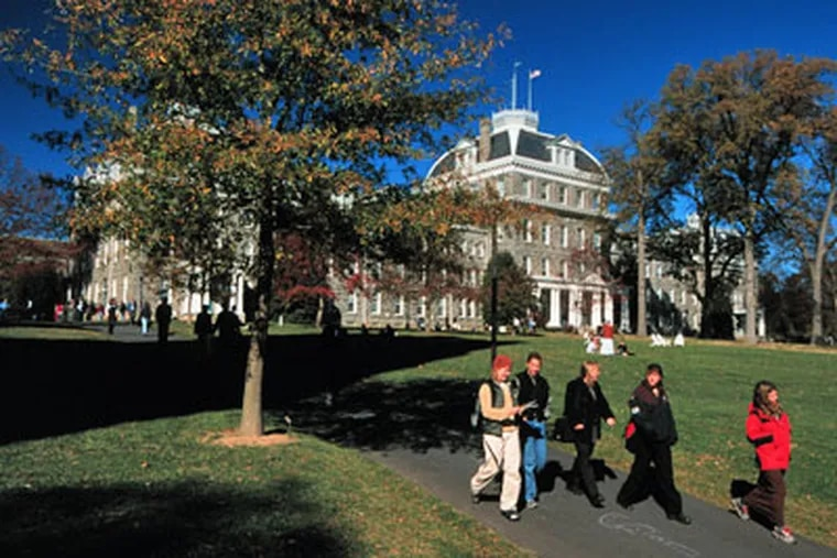 Swarthmore University's Parrish Hall. The university was rated the best value among private colleges in the country by the Princeton Review and USA Today. (Photo courtesy of Swarthmore University)