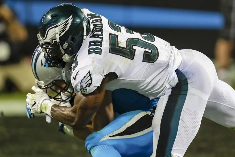 Nigel Bradham is one of the Philadelphia Eagles' Week 17 inactives against the Dallas Cowboys.
