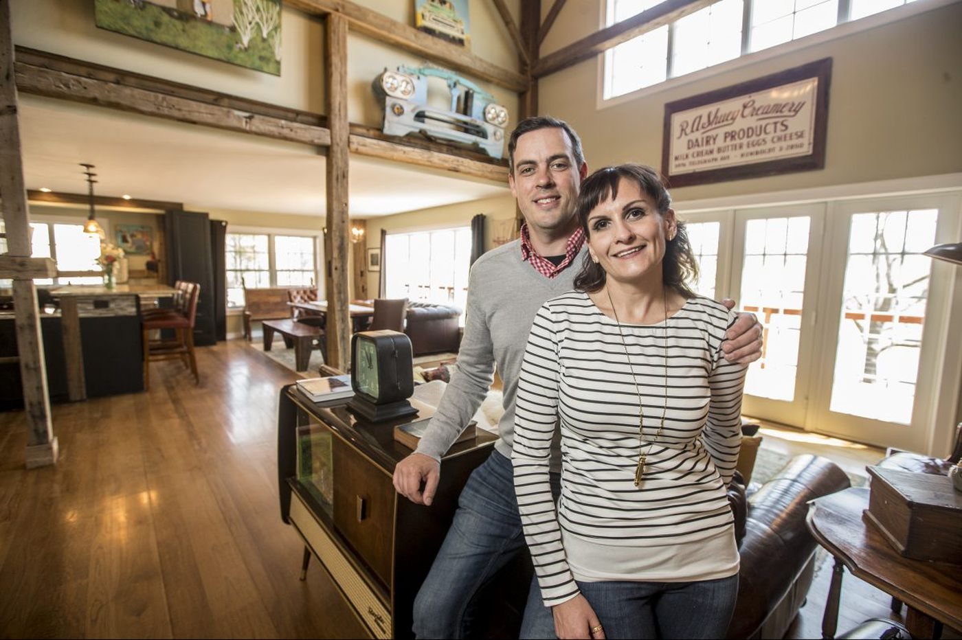 Perkasie couple frames new house around an old barn
