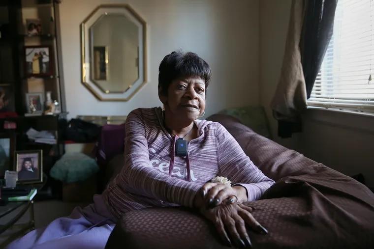 Queen Esther Waites, 80, in her Germantown apartment.