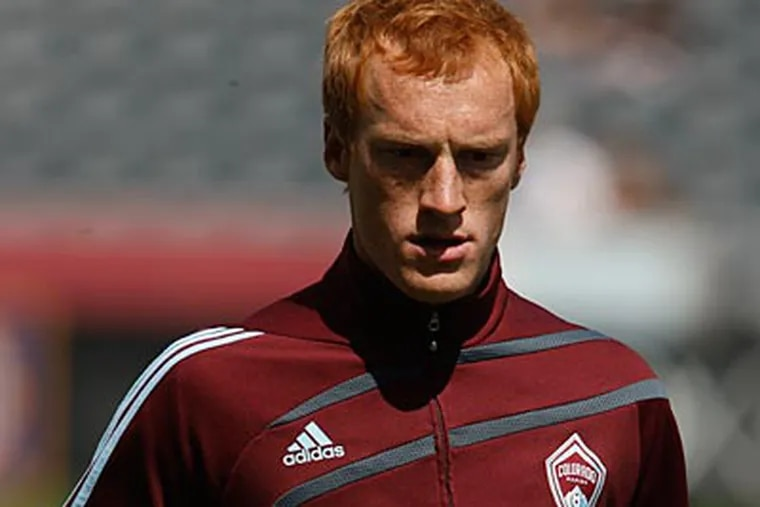 """""""There were games we felt we had a chance to win and didn't produce,"""" the Rapids' Jeff Larentowicz said. (David Zalubowski/AP Photo)"""
