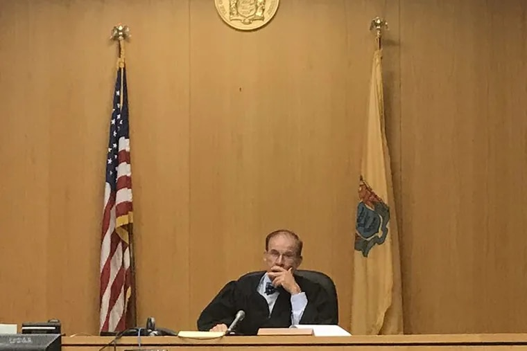 Atlantic County Superior Court Judge Julio Mendez hears a challenge from the campaign of Atlantic City Mayor Don Guardian, Nov. 6, 2017.
