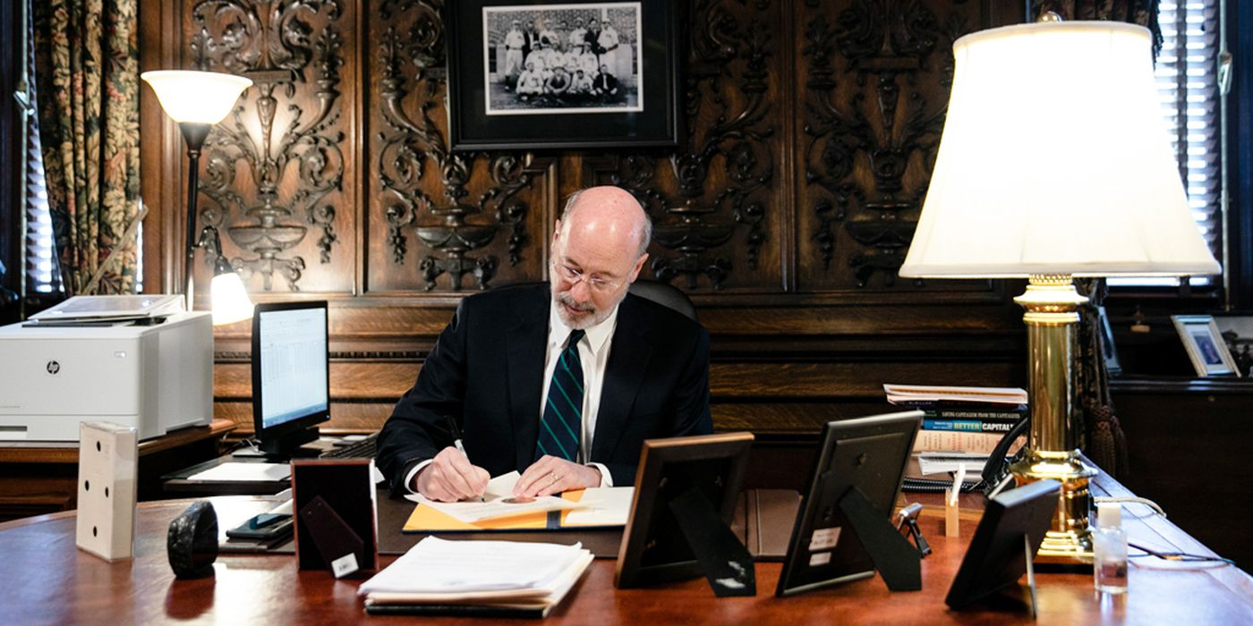 Following a press conference announcing the first two presumptive positive cases of COVID-19, Gov. Tom Wolf signed an emergency disaster declaration on Friday, March 6, 2020, to provide increased support to state agencies involved in the response to the virus.