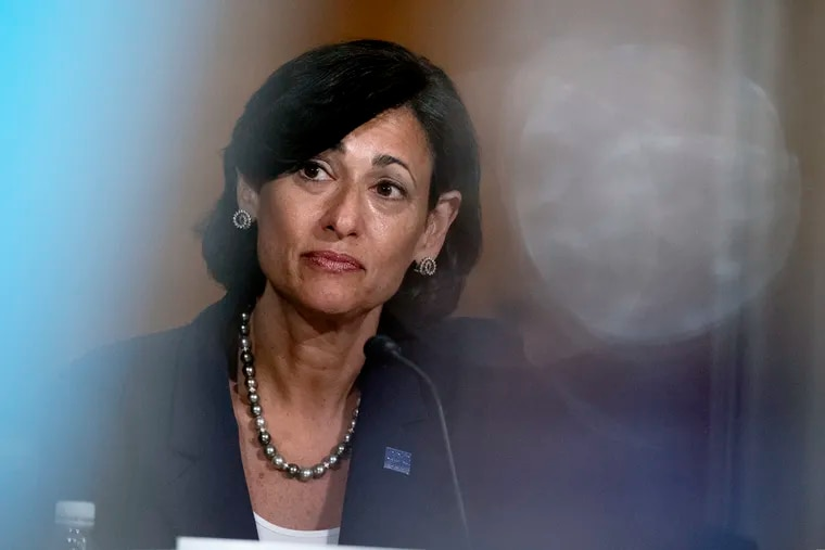 """Rochelle Walensky, director of the CDC, listens during a Senate Committee hearing on July 20 in Washington. Walensky called new CDC data published Friday from a July outbreak in Massachusetts """"concerning"""" and """"a pivotal discovery."""""""