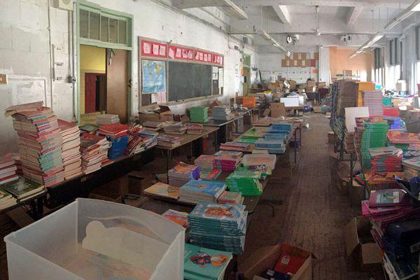 In cash-strapped School District, a hidden treasure trove of books