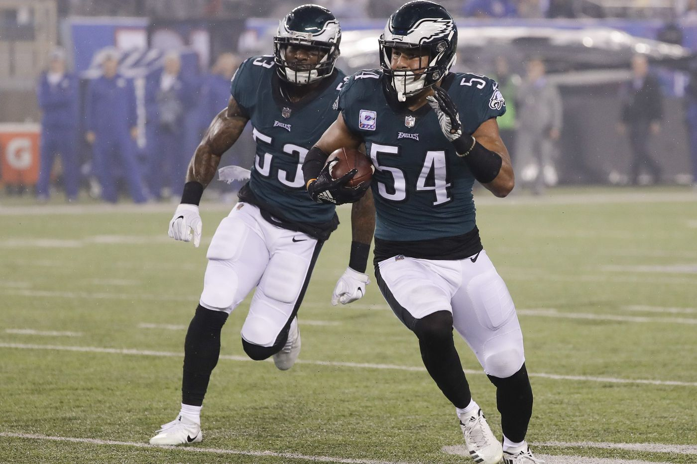 A different role for Nigel Bradham, Mike Groh on the offense, not playing Nick Foles in a rout | Early Birds