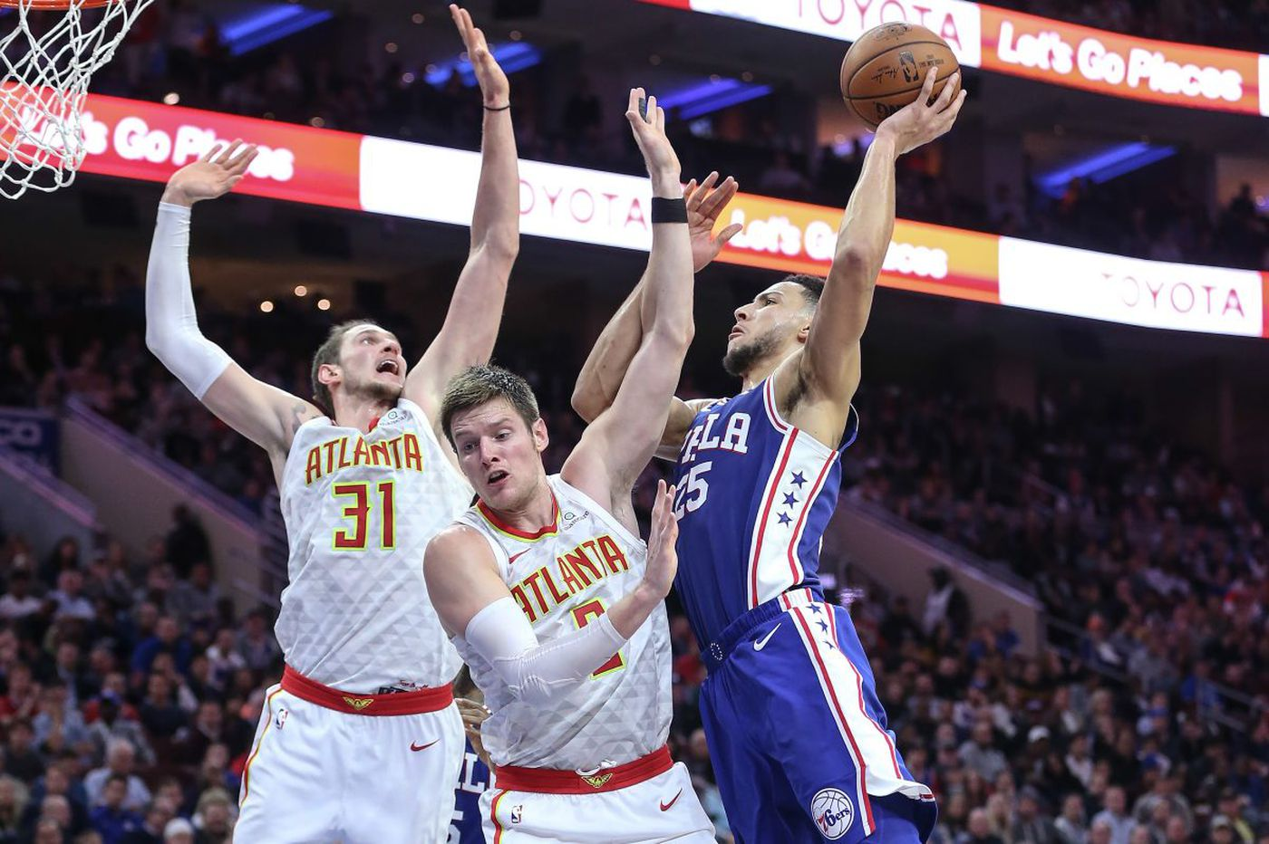 Sixers' Ben Simmons slowly learning to protect the ball when he drives