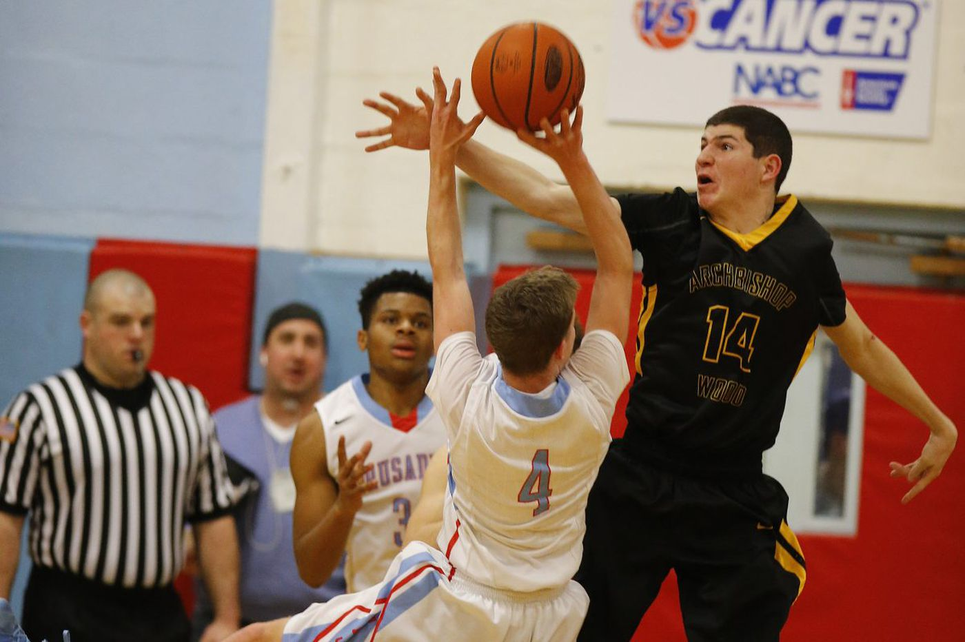 Andrew Funk plays a leading role for Archbishop Wood basketball