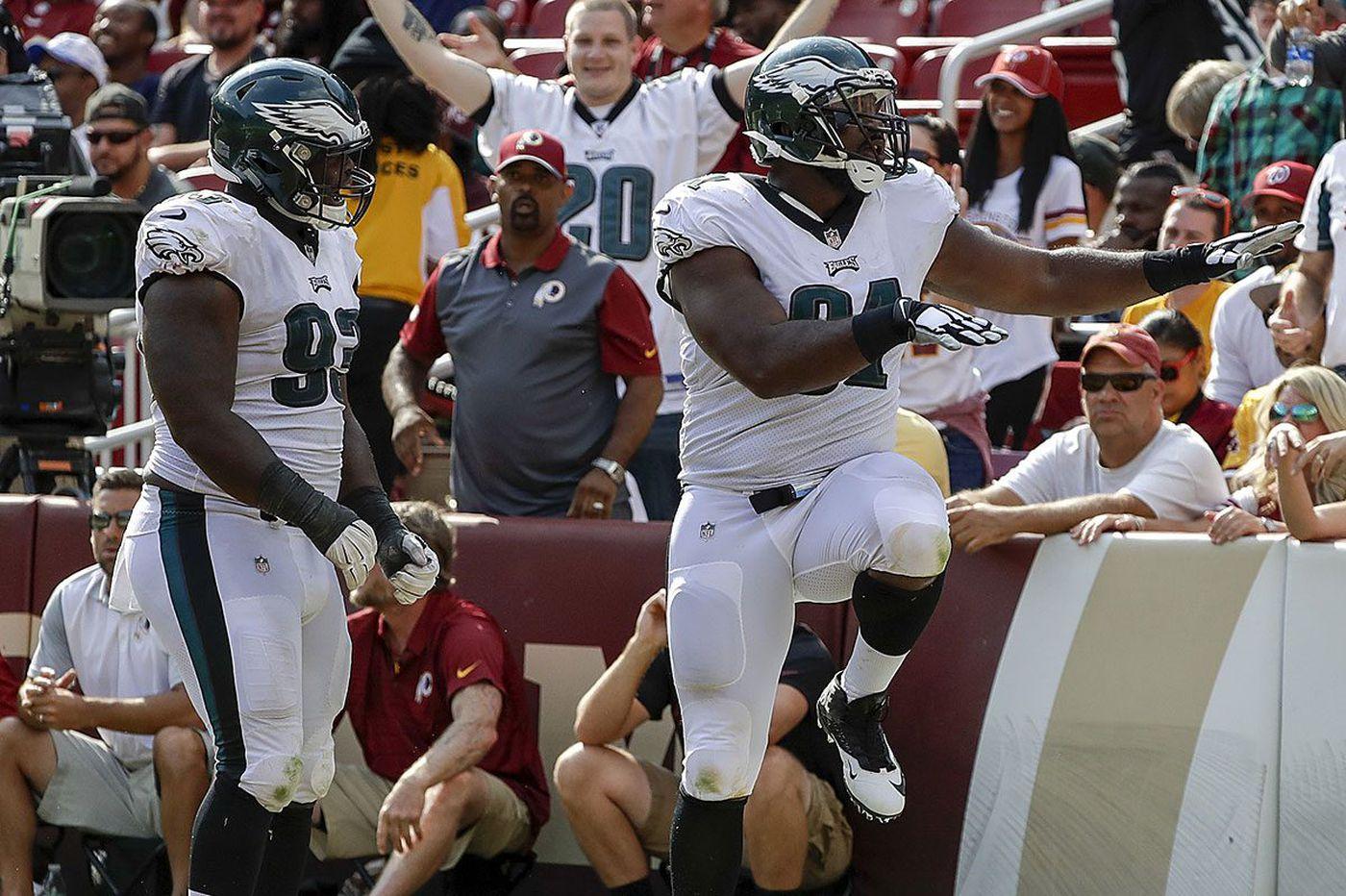 Eagles defense overpowers Washington in season-opening 30-17 win