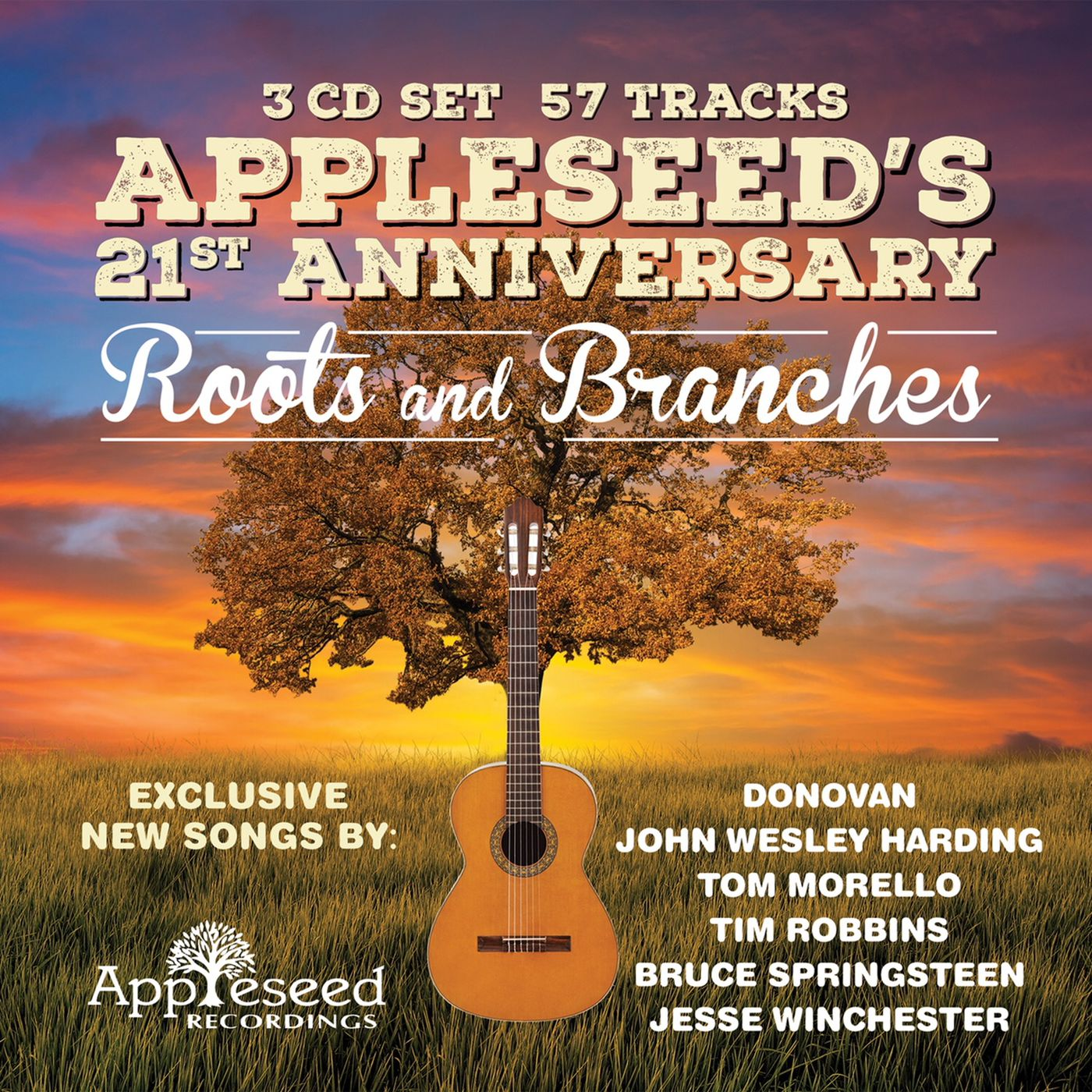 """The cover of """"Appleseed's 21st Anniversary: Roots and Branches."""""""