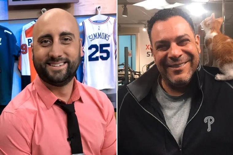NBC Sports Philadelphia host Marc Farzetta (left) is replacing Anthony Gargano as the host of 97.5 The Fanatic's morning show.