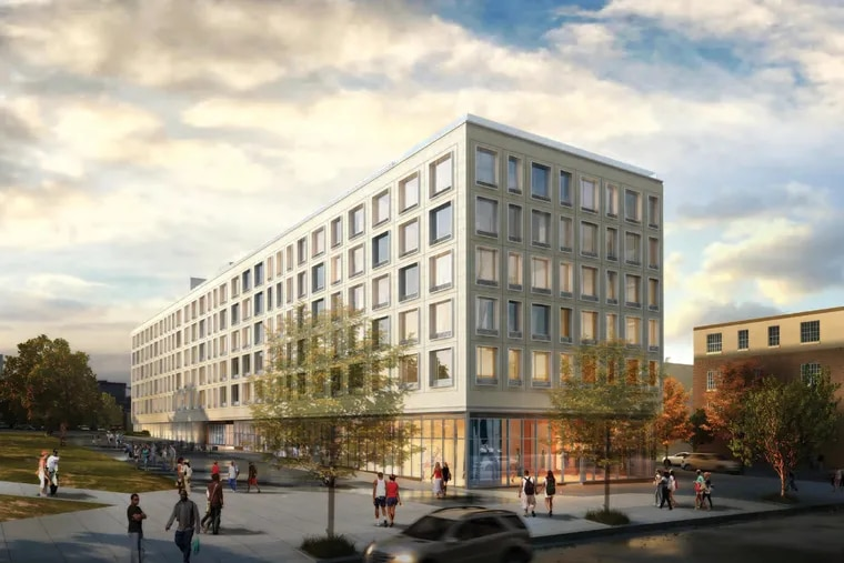 Artist's rendering of planned 10 North Station building, as seen from Broad Street looking west.