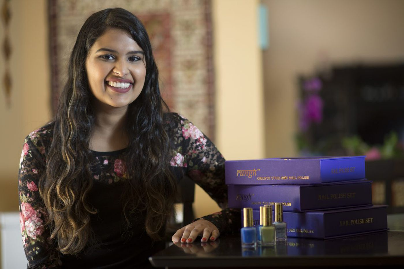`I'm just a makeup nerd,' says a Temple student with a DIY nail-polish business