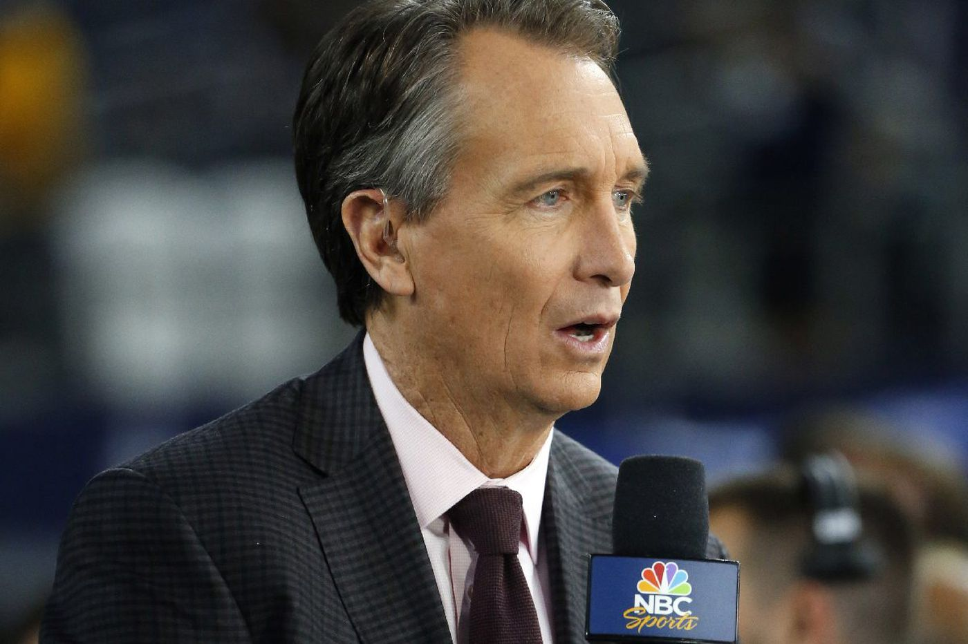 NBC's Cris Collinsworth couldn't accept the Eagles scored a touchdown during the Super Bowl