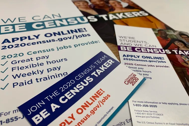 The Census Bureau is distributing these recruitment fliers as it seeks to fill hundreds of thousands of jobs for the 2020 Census.
