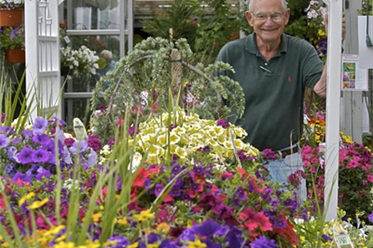 Jim Feeney in Feeney's Garden Center and Nursery. ( John Costello / Staff Photographer )
