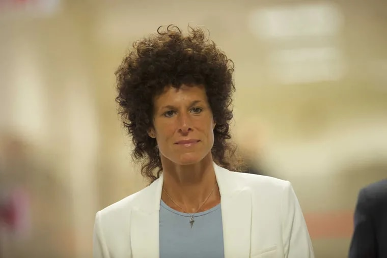 Bill Cosby accuser Andrea Constand arrives at the Montgomery County Courthouse on the third day of Cosby's sexual assault trial June 7, 2017 in Norristown, Pa. A former Temple University employee, she alleges that the entertainer drugged and molested her in 2004 at his home in suburban Philadelphia.
