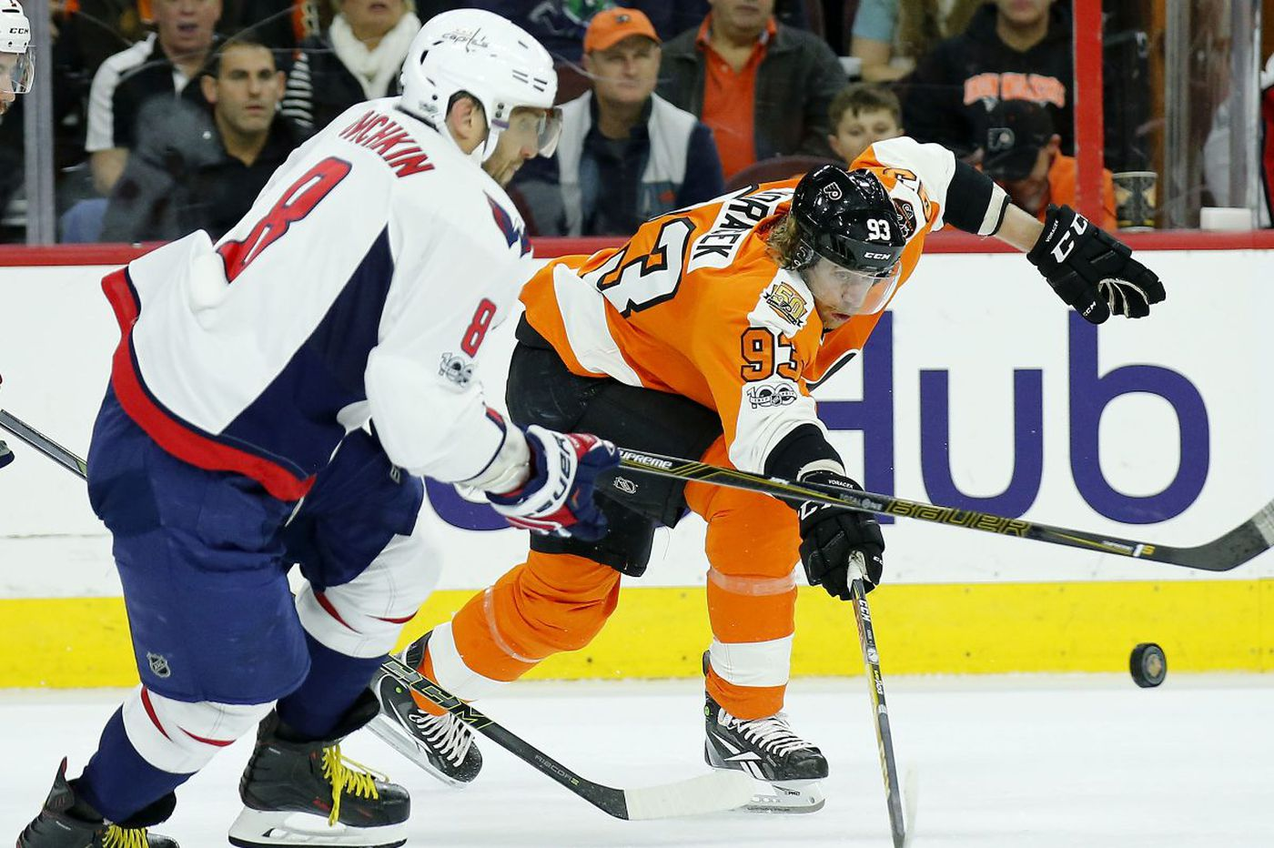 Flyers' grind toward playoffs starts with visit to Washington