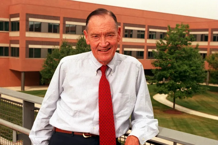 John C. Bogle, founder of the Vanguard Group, on the company's campus in Malvern.