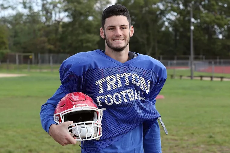Triton senior Ryan Franz is a two-year captain for the Mustangs football team.