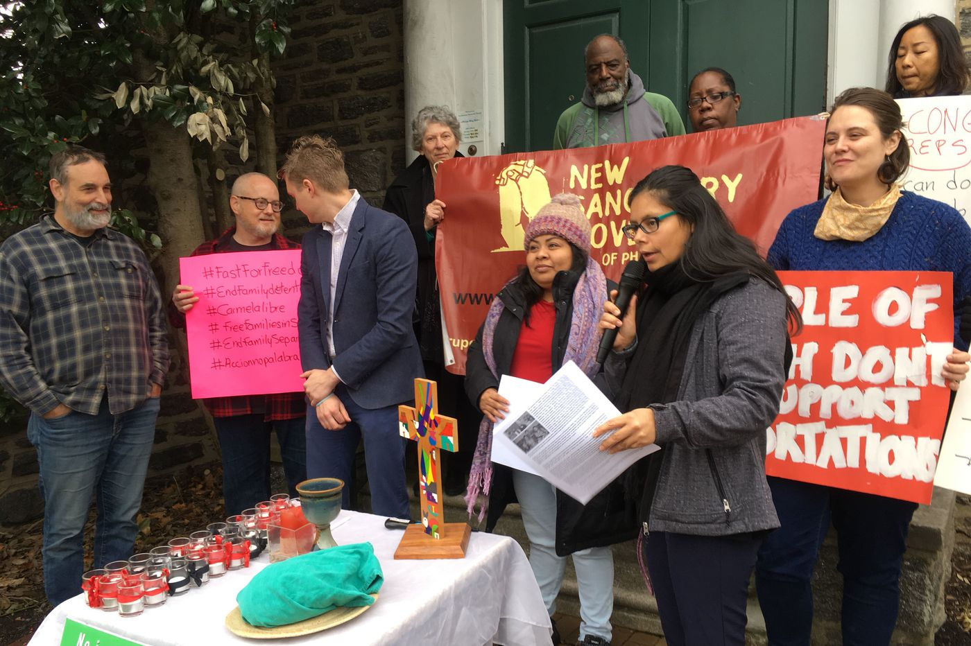 An undocumented immigrant marked two years in sanctuary in a Philadelphia church by starting a weekly fast