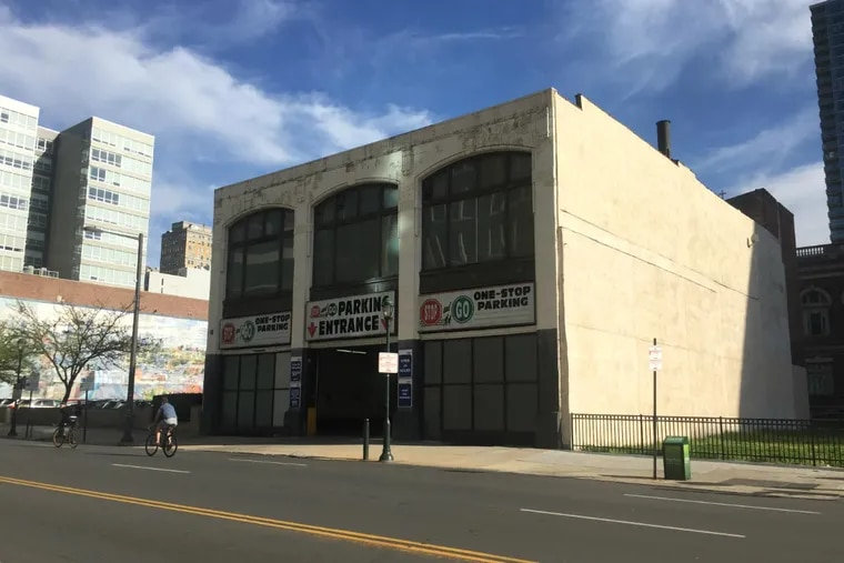 Brandywine Realty Trust hopes to demolish this building as part of its plan for an enlarged surface parking lot on the 2100 block of Market Street.