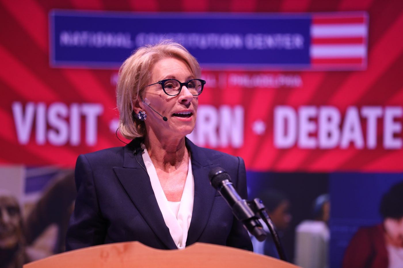 Betsy DeVos, in Philly Monday, decries 'abandoned truth'