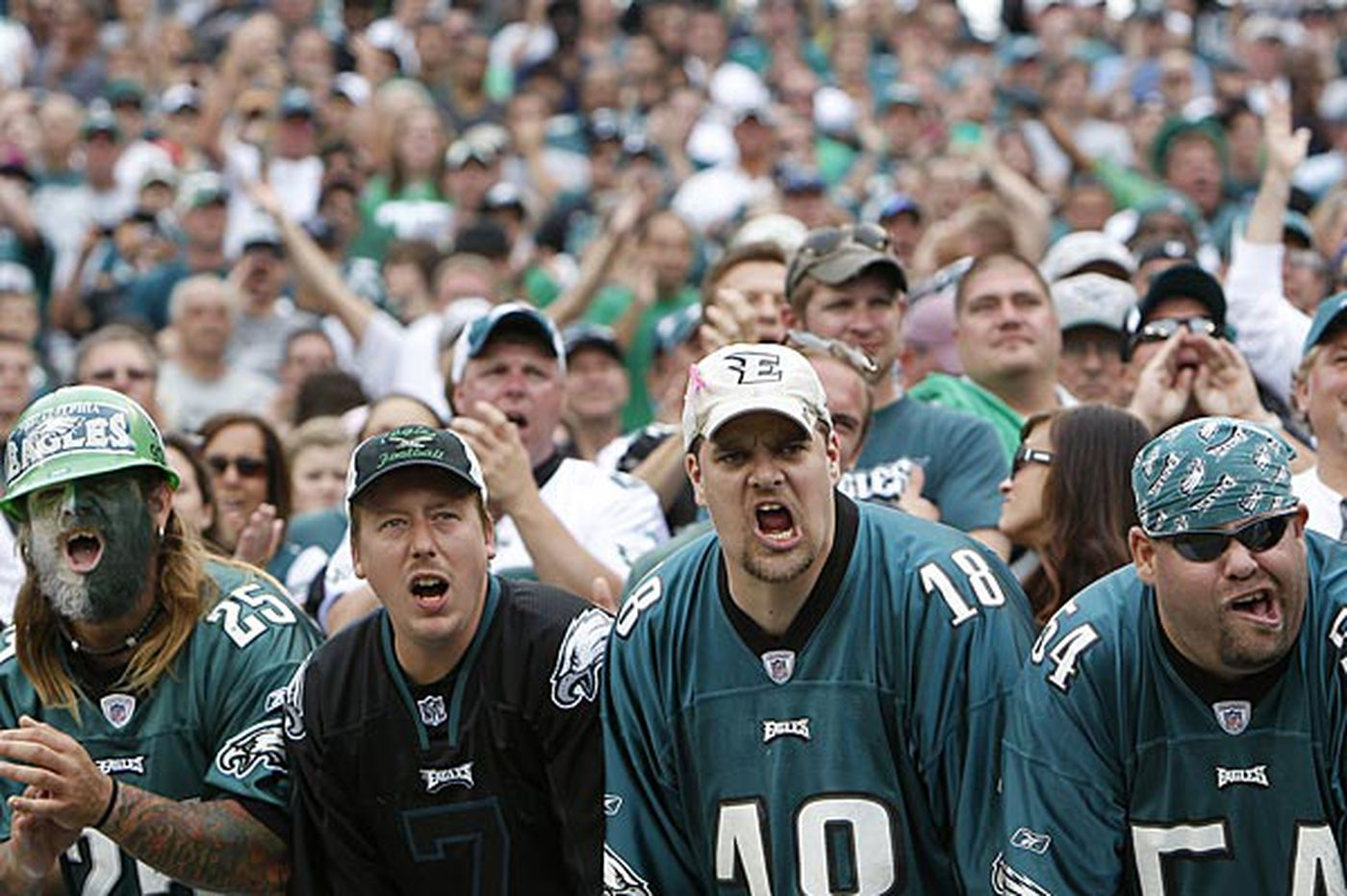Study: Eagles fans 3d most emotionally stable in NFL
