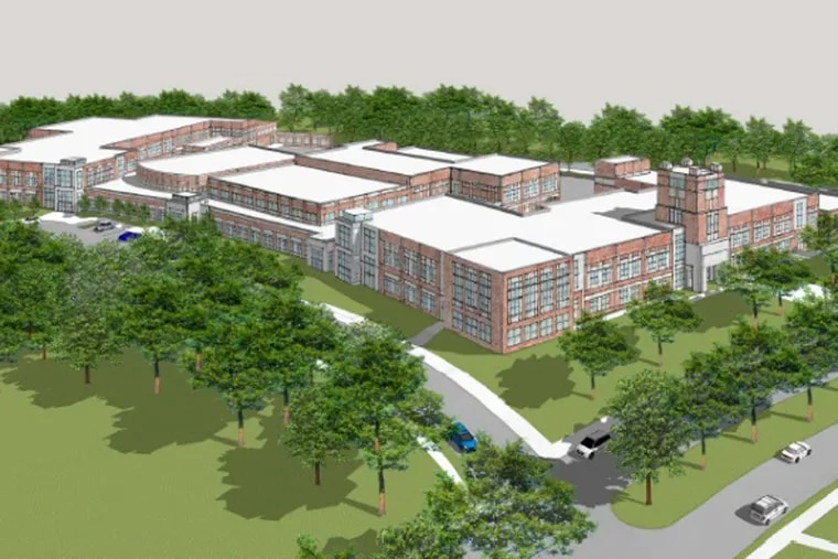 A rendering of the proposed new Camden high school.
