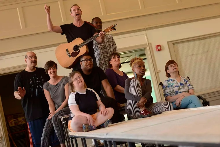 The cast of A Fierce Kind of Love in rehearsal at Christ Church Neighborhood House.