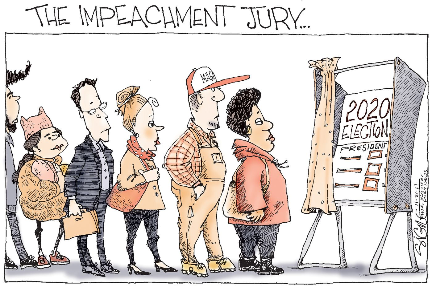 Political Cartoon: The Impeachment Jury