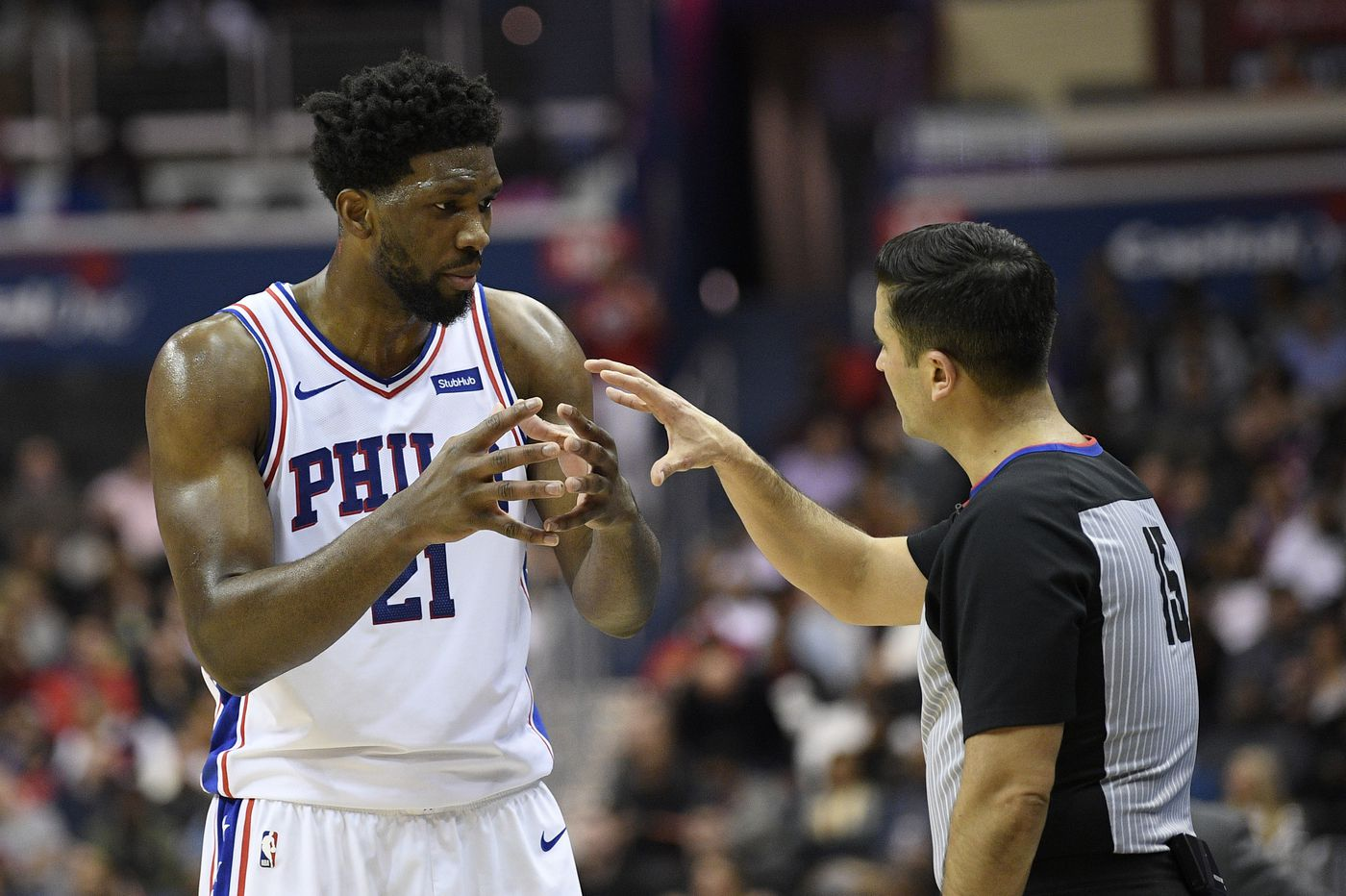 Sixers' Joel Embiid will sit against Atlanta Hawks with sore left ankle, JJ Redick to return