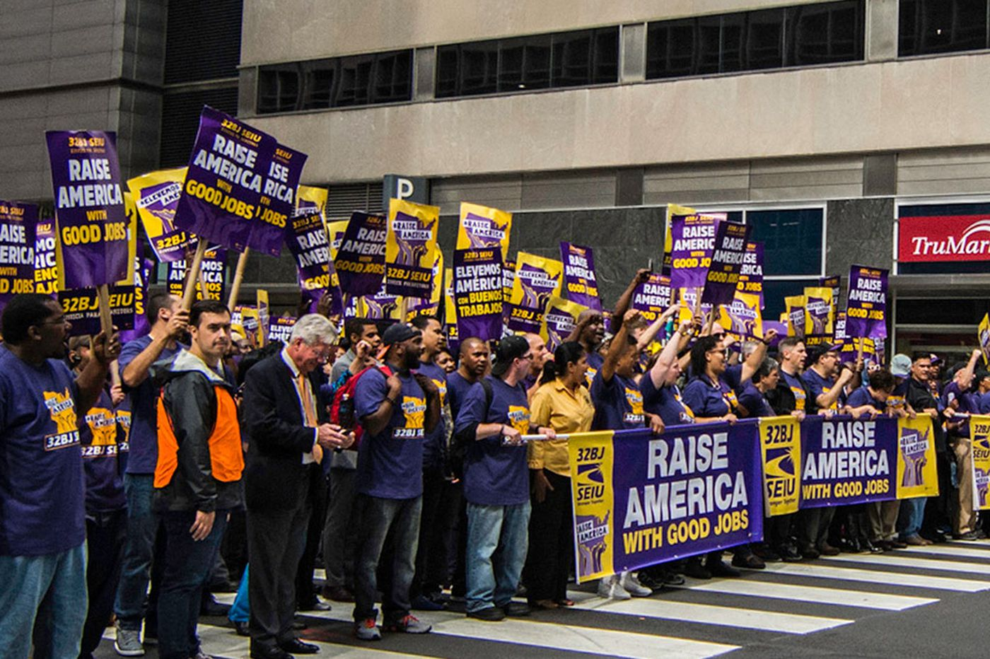 Janitors rally for jobs, better pay