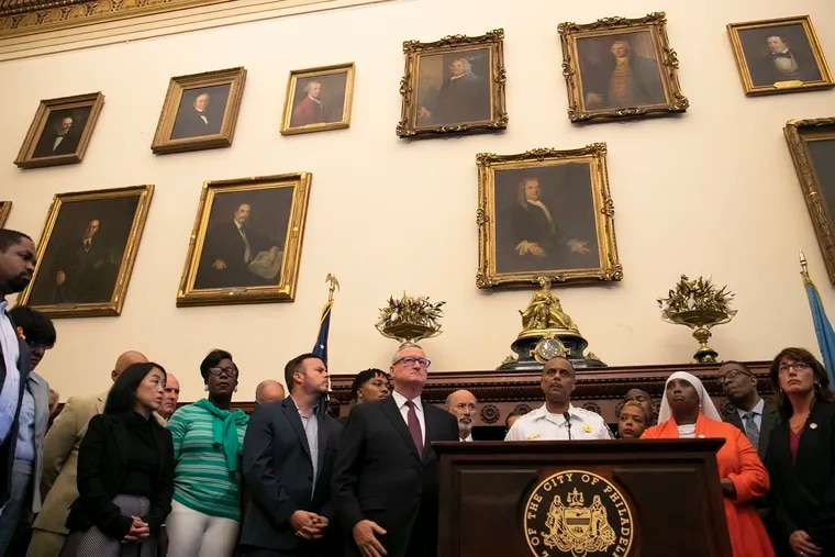 Police Commissioner Richard Ross speaks during a press conference in the Mayor's Reception Room at Philadelphia City Hall on Thursday, Aug. 15, 2019. The press conference was in response to the police shooting in North Philadelphia on Wednesday evening.