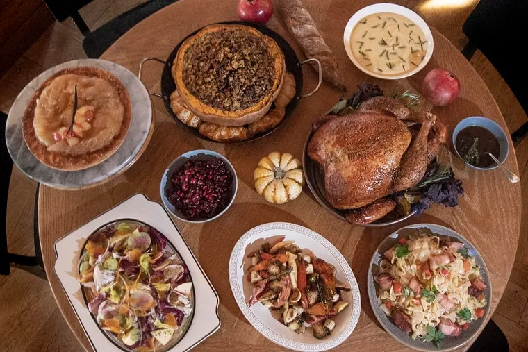 Thanksgiving meal at the a.kitchen+bar Restaurant in Philadelphia, Pa. Thursday, October 25, 2018.