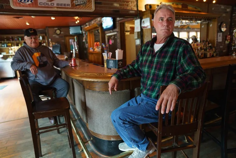 """Mark Yezzi (right) at Little Ease Tavern, in Franklinville, NJ.: """"I don't think it was a waste of time, but I can't stand how they were dragging it out."""""""