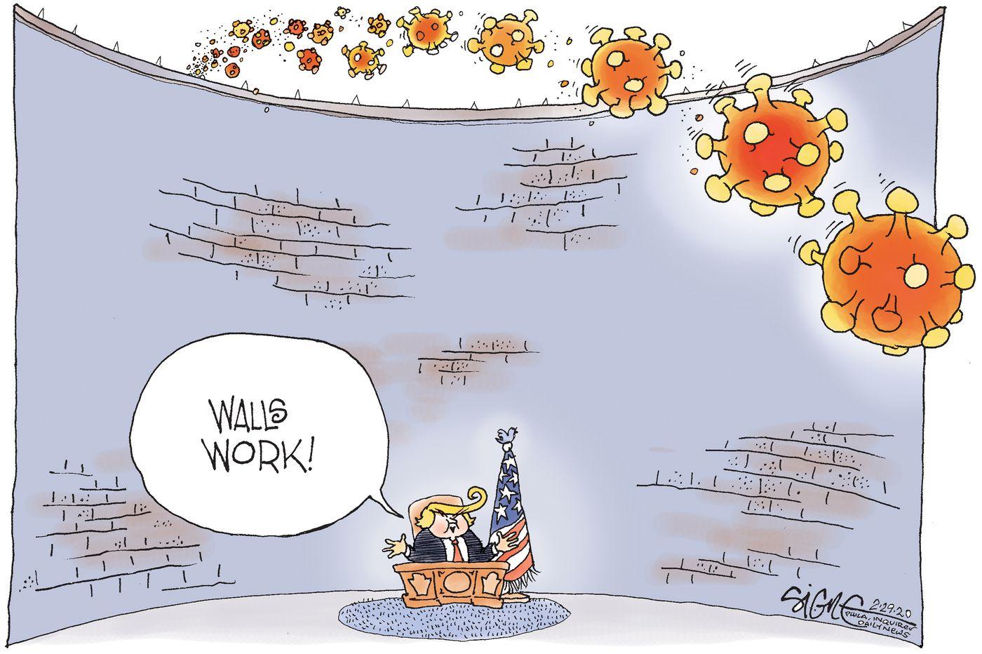 Political Cartoon: Walling off the coronavirus